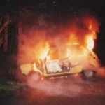Mini photos of the day: Clubman on fire