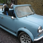 Light Blue, Two-Seater Classic Mini Roadster